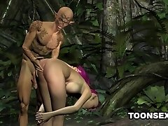 Sexy 3D emo elf honey getting fucked hard outdoors