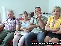 Older couple seduces newlyweds