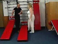 german grannie at gym