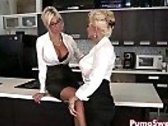 Euro Babe Puma Swede Pummels the Office Slut!