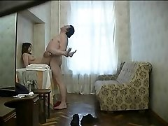 Russian whore with ugly fat old boy. Hidden cam.