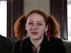 Ugly Redhead Fingering Her Furry Pussy
