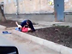 Russian amateurs fuckin' outdoor