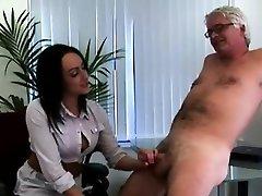 British female dominance office ladies jerk CFNM office perv