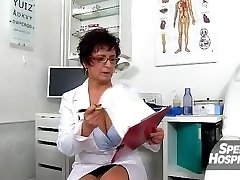 Molten milf Maya cum on tits after cfnm handjob