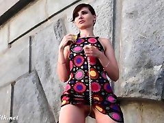 Jeny Smith Yellow High-heeled Slippers