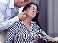Busy chesty sweetie in glasses Chanel Lux gets disturbed with torrid analfuck