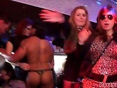 Euro party nubiles fellating dicks in nightrclub