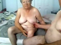 Granny and granddad naked on cam