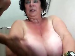 FRENCH Bbw 65YO GRANNY OLGA Porked BY 2 MEN - DP