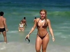 Hot woman on beach