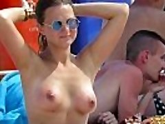 Horny Topless Amateurs Milfs - Hot Voyeur Beach Flick