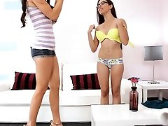 Teenager angel likes unfathomable banging at the teen casting