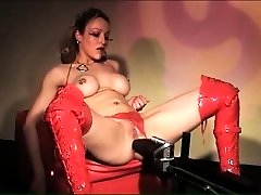 Anal machine Big dildo Marvelous milf