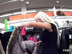 Enthralling czech teen is teased in the supermarket and drilled