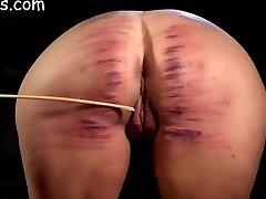 Femmes ass brutally caned