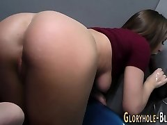 Teen milks big black cock for cum