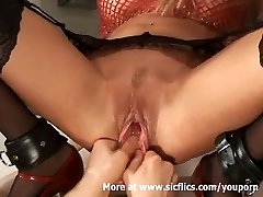 Fisting and stretching my molten girlfriends massive pussy