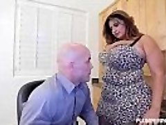 Huge-titted Latina Milf Sofia Rose Fucks Her CoWorker Derrick