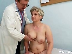 Mature fat pussy Ruzena gyno butt-plug bizzare medical center exam