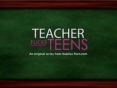 Big cock for tiny blonde schoolgirl and lucky schoolteacher
