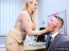Sexy busty lecturer fucked firm in her office