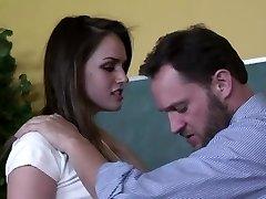 Horny teacher plows his beautiful student Tori Black