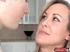 Teen Madison Chandler and big-chested MILF Brandi Enjoy 3some