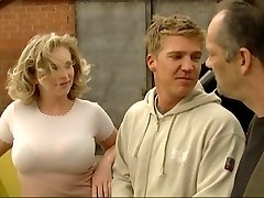 Blonde fucked by German construction workers