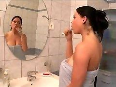 Immense boobs in the Bath