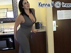 Fresh Kenna V. wetting her panties and latex