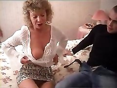British grandma heads totally insane and attempts to fuck with her grandson's friend
