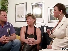 German Gigantic Tit MILF Teach Duo to Have more Fun at Sex