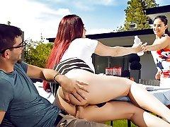 Skyla Novea & Logan Long in Steaming Doggy Style - SneakySex