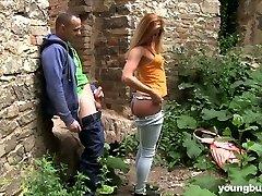 Boy fucks naughty ultra-cutie with big boobs Chrissy Fox in the senior castle