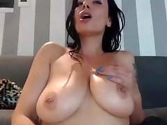 Horny mum cums on herself and gobble it on webcam