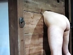 Enslaved whore punished with red-hot wax