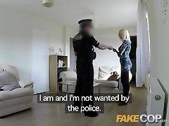 Fake Cop Slut gets pummeled by cop in her vapid