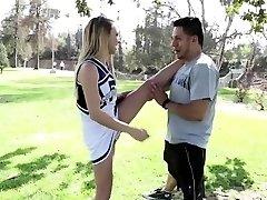 Hot Carmen teaches newbie cheerleader