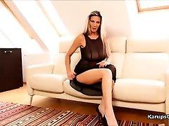 Mercedes Silver Solo Masturbation Pussy Fumble