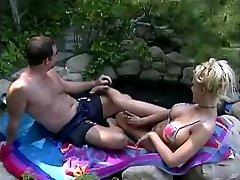 Tina Cheri is longing some jizz at the pool