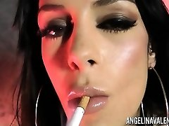 Angelina Valentine Smoking while Fucking Herself