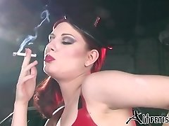 Angela Ryan Latex and Smoking Fetish