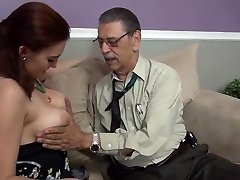 young girl first-ever time fucked on camera by old man