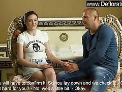 Galina gets her virgin popped