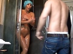 Real son-in-law rescuses step-mummy from the shower
