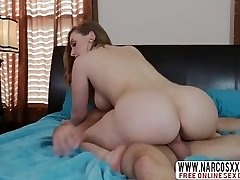 Blonde Step Mummy Harley Jade Gives Her Son While Wife Sleeping