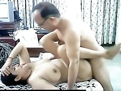 Mature arab couple makes a sextape in missionary posture with internal cumshot