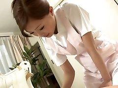 Magnificent Nurse jerks her patient's cock as a treatment