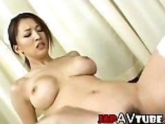 Busty japanese nurse gets cumshot